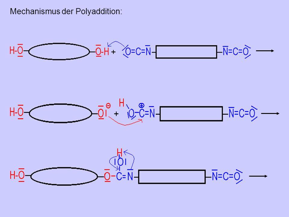 Mechanismus der Polyaddition: