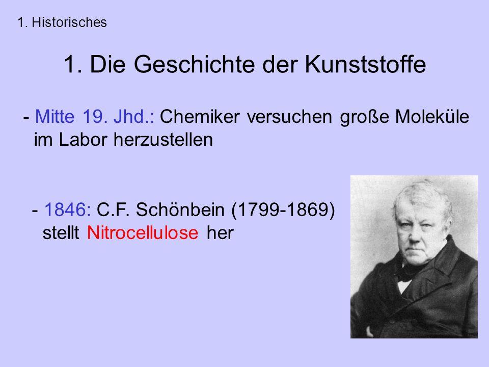 1.Die Geschichte der Kunststoffe - Mitte 19.