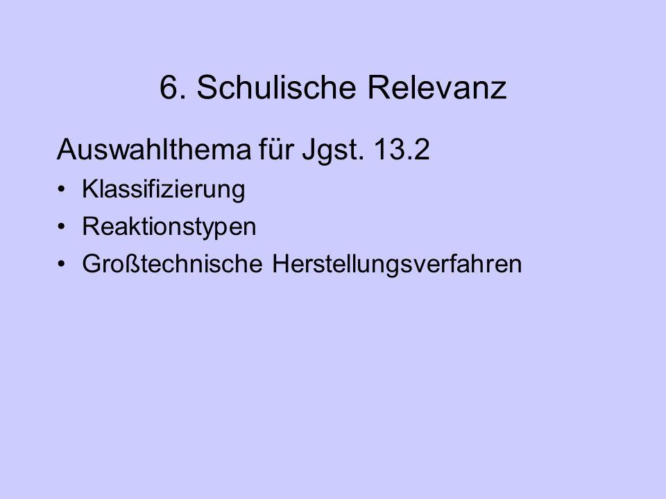 6.Schulische Relevanz Auswahlthema für Jgst.