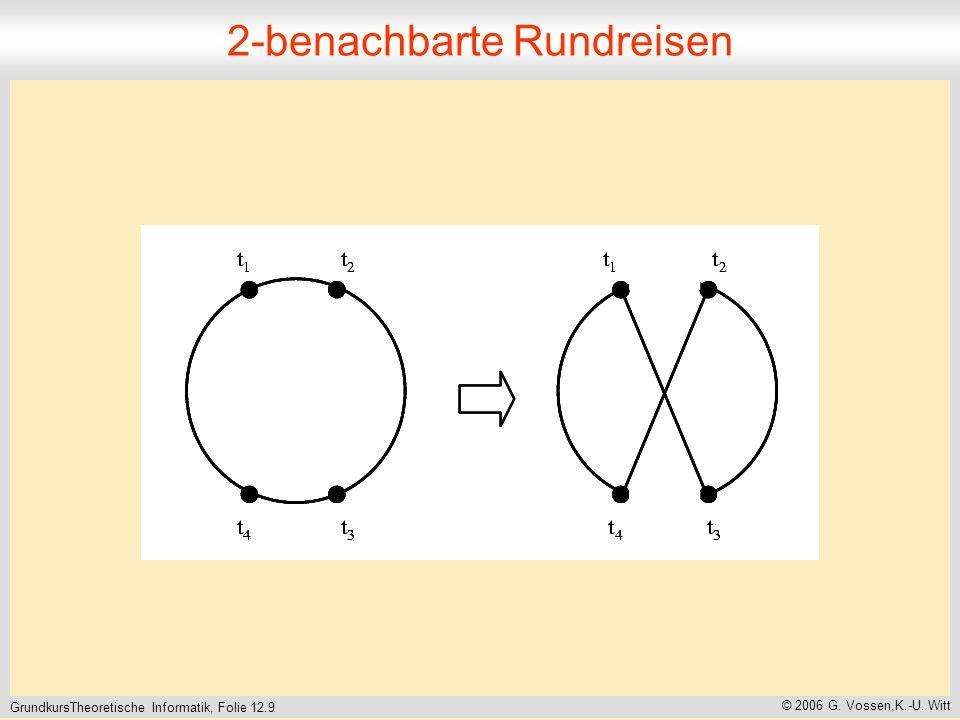 GrundkursTheoretische Informatik, Folie 12.9 © 2006 G. Vossen,K.-U. Witt 2-benachbarte Rundreisen