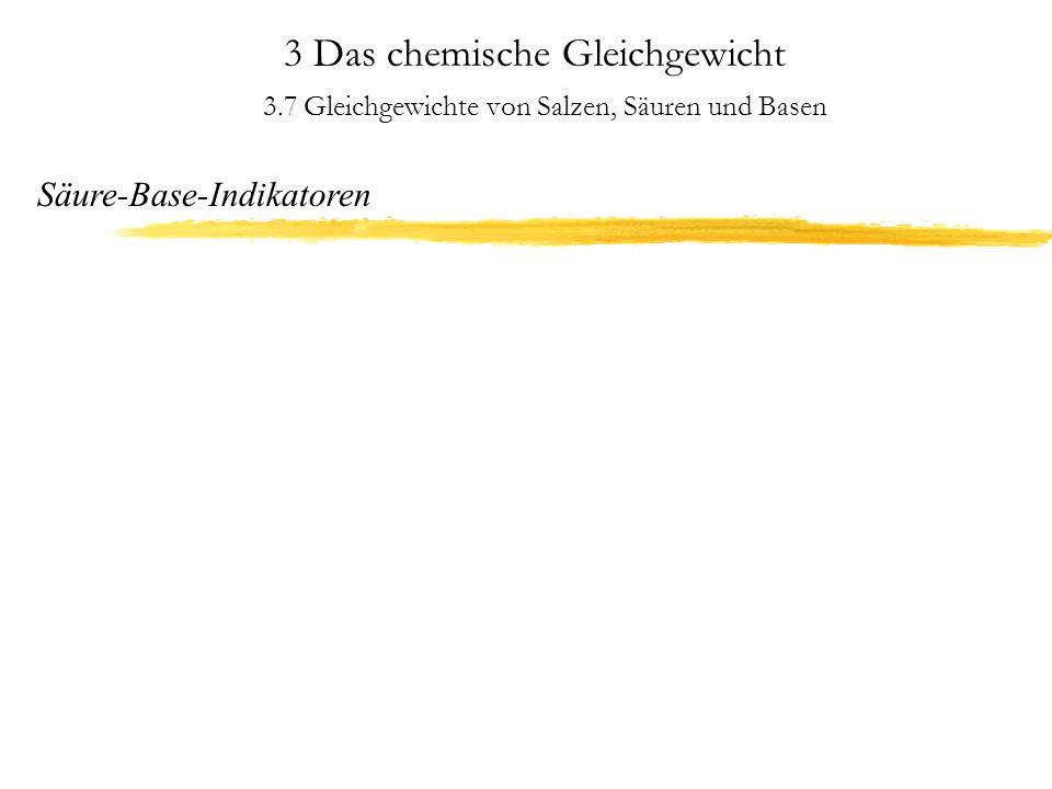 3 Das chemische Gleichgewicht 3.8 Redoxvorgänge Die elektrochemische Spannungsreihe Redoxpotentiale erlauben eine Voraussage, ob ein Redoxprozeß überhaupt möglich ist, nicht aber, ob er auch tatsächlich abläuft!