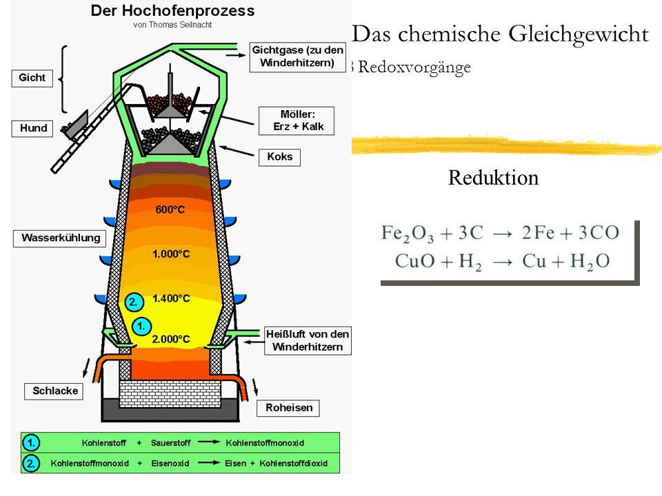 3 Das chemische Gleichgewicht 3.8 Redoxvorgänge Galvanische Elemente Die Spannung eines galvanischen Elementes wird EMK, elektro- motorische Kraft genannt.