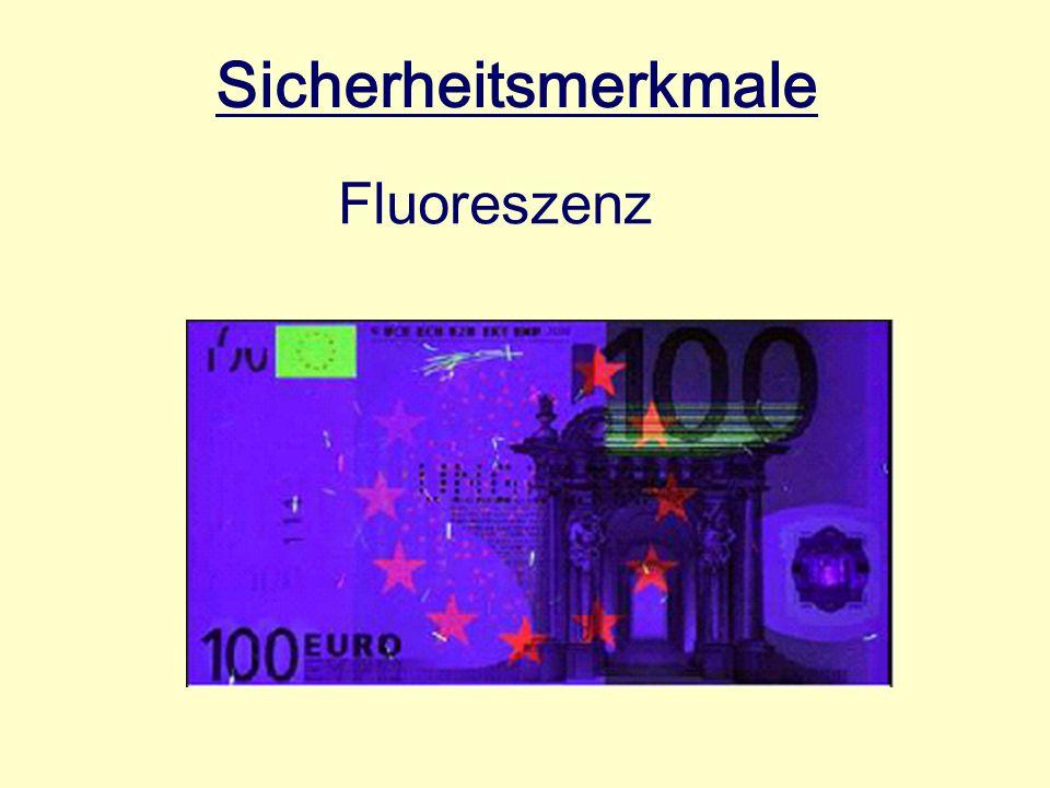 Sicherheitsmerkmale Fluoreszenz