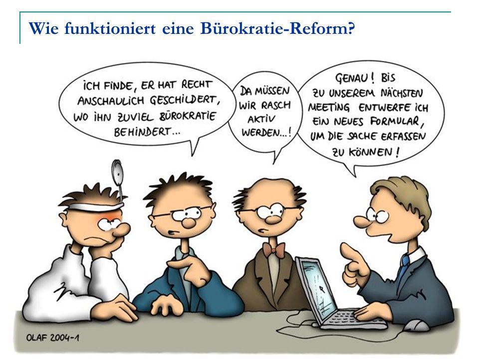 Wie funktioniert eine Bürokratie-Reform?