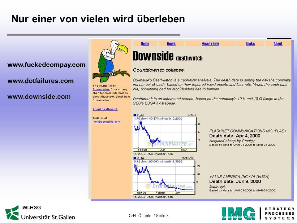  H. Österle / Seite 3 IWI-HSG www.fuckedcompay.com www.dotfailures.com www.fuckedcompay.com www.dotfailures.com www.downside.com Nur einer von vielen