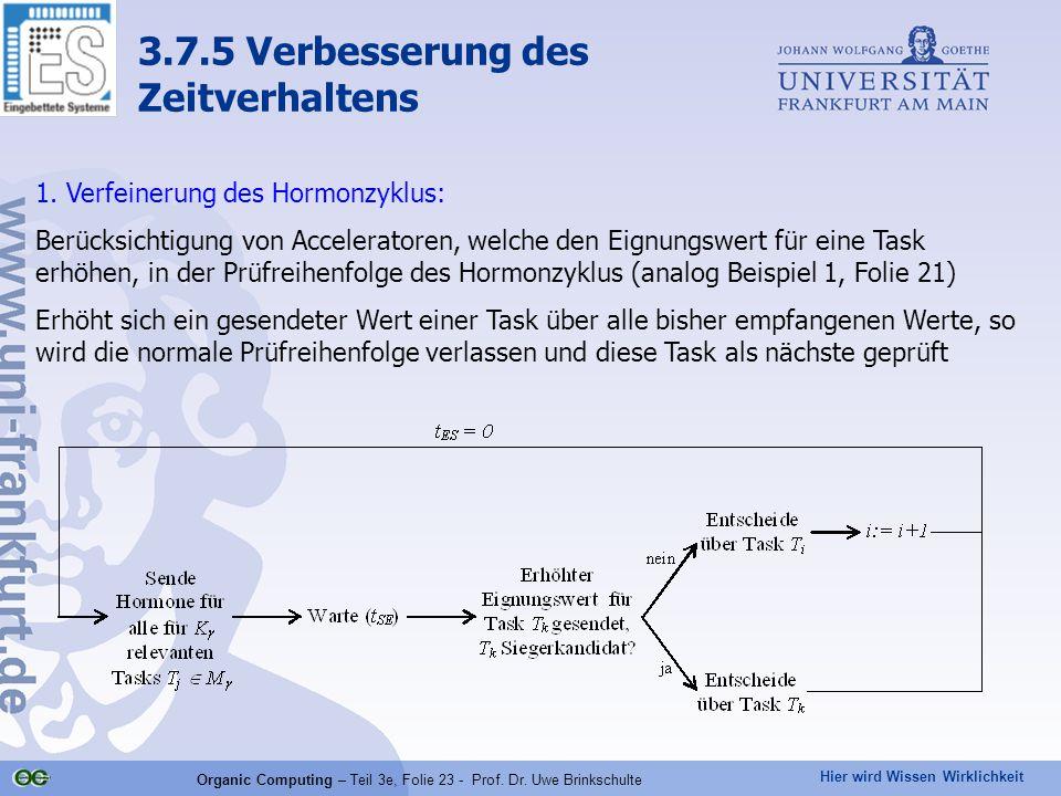 Hier wird Wissen Wirklichkeit Organic Computing – Teil 3e, Folie 23 - Prof. Dr. Uwe Brinkschulte 1. Verfeinerung des Hormonzyklus: Berücksichtigung vo