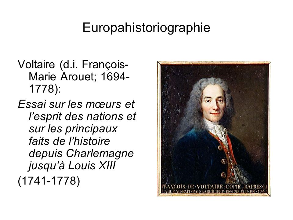 Europahistoriographie Voltaire (d.i.