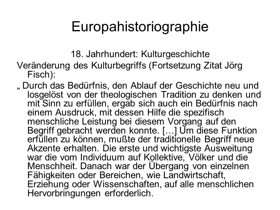 Europahistoriographie 18.