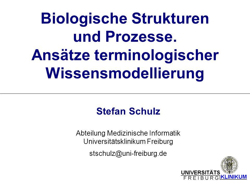Biologische Strukturen und Prozesse. Ansätze terminologischer Wissensmodellierung Stefan Schulz Abteilung Medizinische Informatik Universitätsklinikum