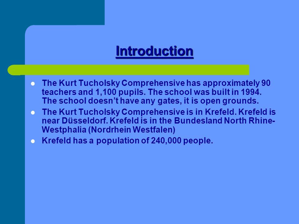 Design of the school The design of Kurt-Tucholsky Gesamtschule is unusual.