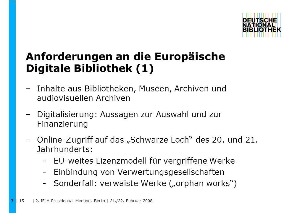 | 15 | 2.IFLA Presidential Meeting, Berlin | 21./22.