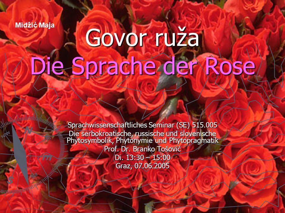 2 Sadržaj – Inhaltsverzeichnis 1.porijeklo ruža – Geschichte der Rose 2.