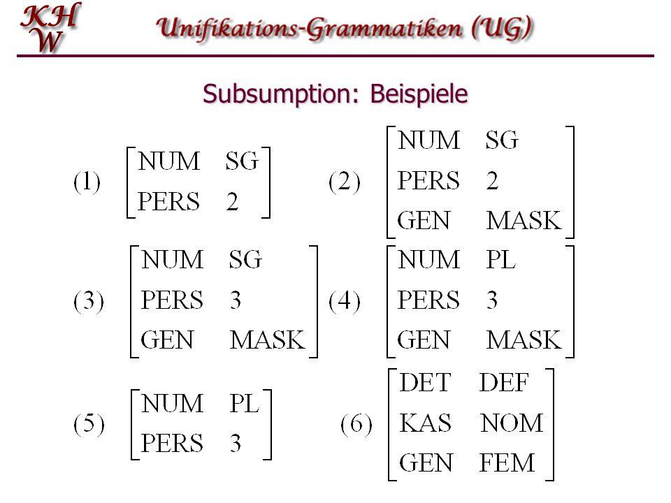 Subsumption: Beispiele