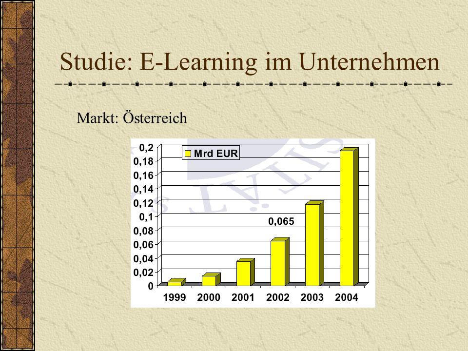 Studie: E-Learning im Unternehmen Markt: Österreich