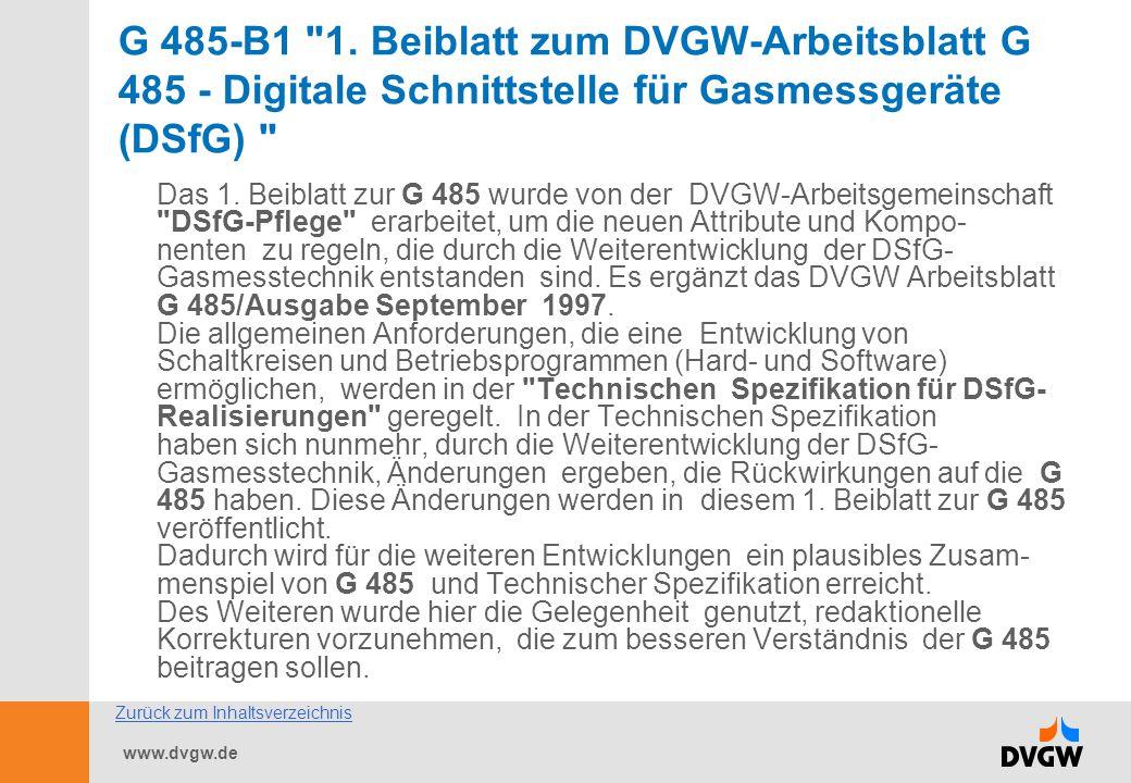 www.dvgw.de G 485-B1