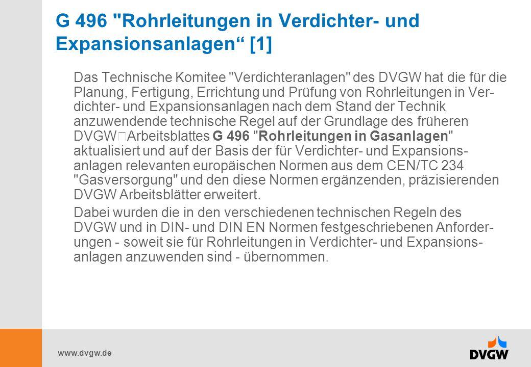 www.dvgw.de G 496