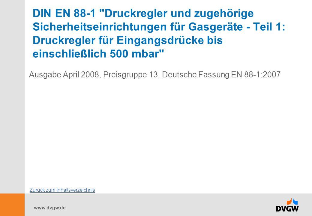 www.dvgw.de DIN EN 88-1