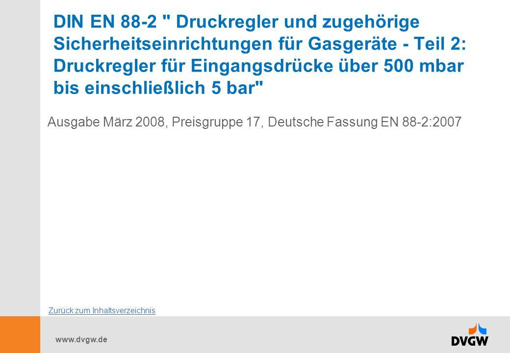 www.dvgw.de DIN EN 88-2