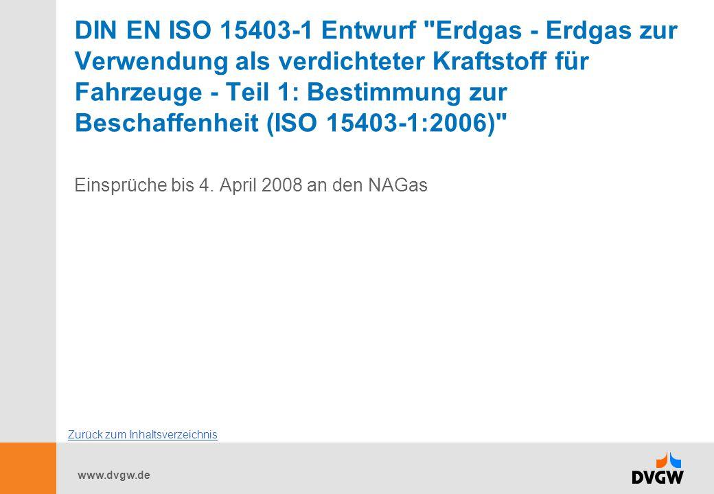 www.dvgw.de DIN EN ISO 15403-1 Entwurf