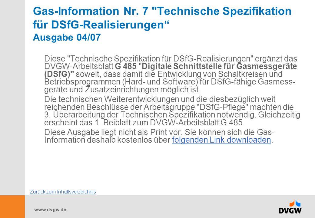 www.dvgw.de Gas-Information Nr. 7