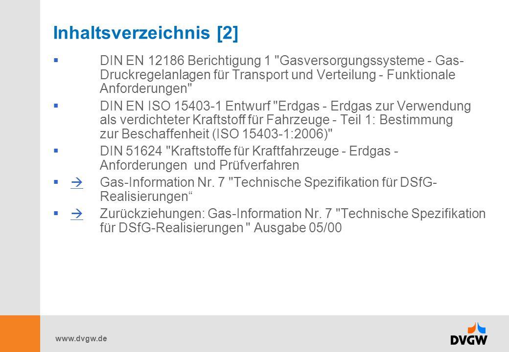 www.dvgw.de Inhaltsverzeichnis [2]  DIN EN 12186 Berichtigung 1