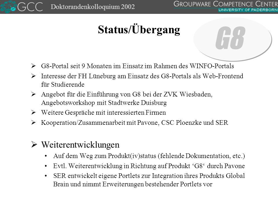 Doktorandenkolloquium 2002 Kontakt Dipl.-Wirt.Inf.