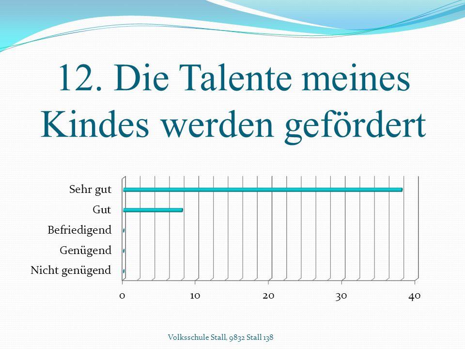 12. Die Talente meines Kindes werden gefördert Volksschule Stall, 9832 Stall 138