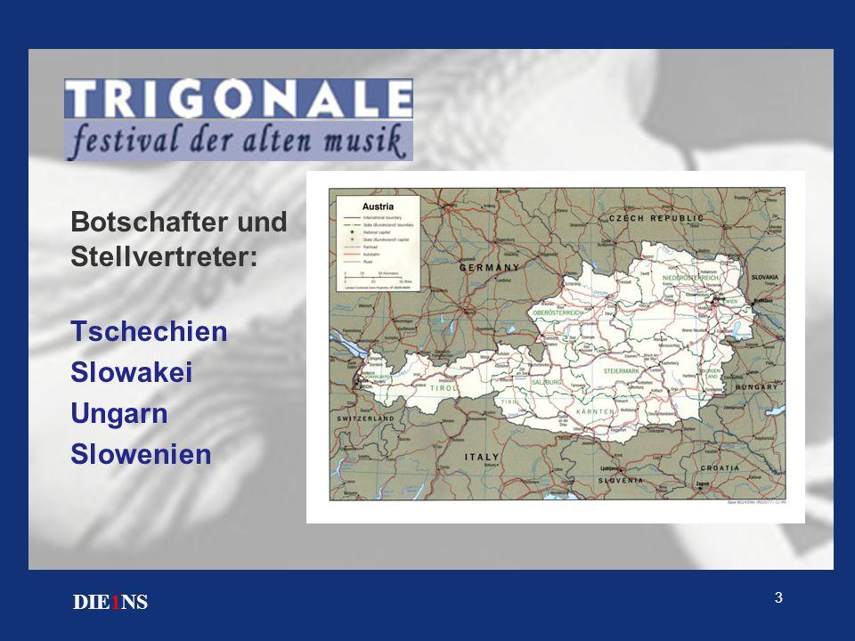 3 DIE1NS Botschafter und Stellvertreter: Tschechien Slowakei Ungarn Slowenien