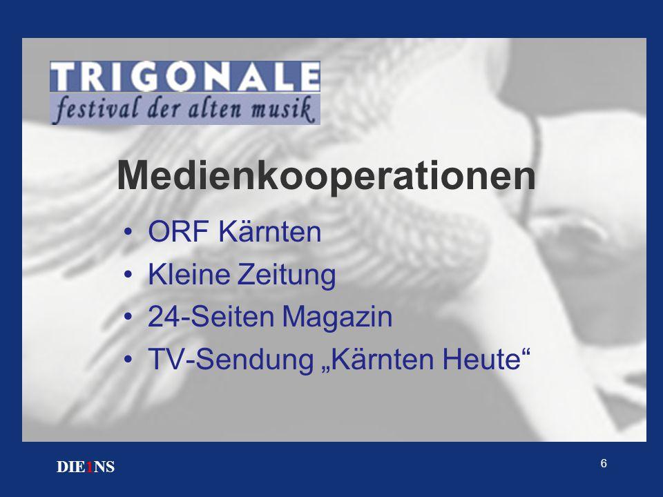 """6 DIE1NS Medienkooperationen ORF Kärnten Kleine Zeitung 24-Seiten Magazin TV-Sendung """"Kärnten Heute"""