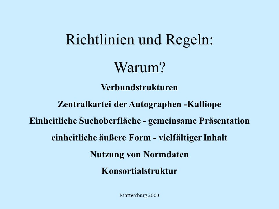 Mattersburg 2003 9. Regelwerksdiskussion -