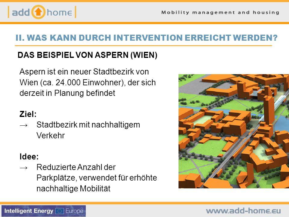 DAS BEISPIEL VON ASPERN (WIEN) Aspern ist ein neuer Stadtbezirk von Wien (ca.