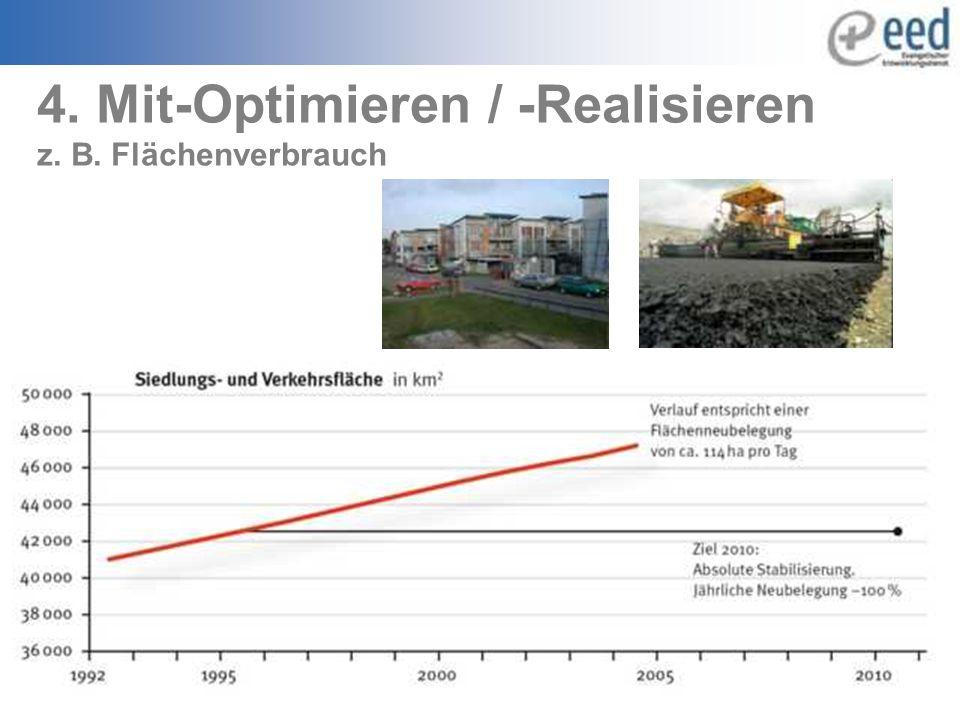 4. Mit-Optimieren / -Realisieren z. B. Flächenverbrauch