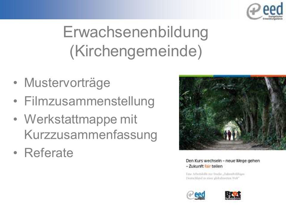 Erwachsenenbildung (Kirchengemeinde) Mustervorträge Filmzusammenstellung Werkstattmappe mit Kurzzusammenfassung Referate