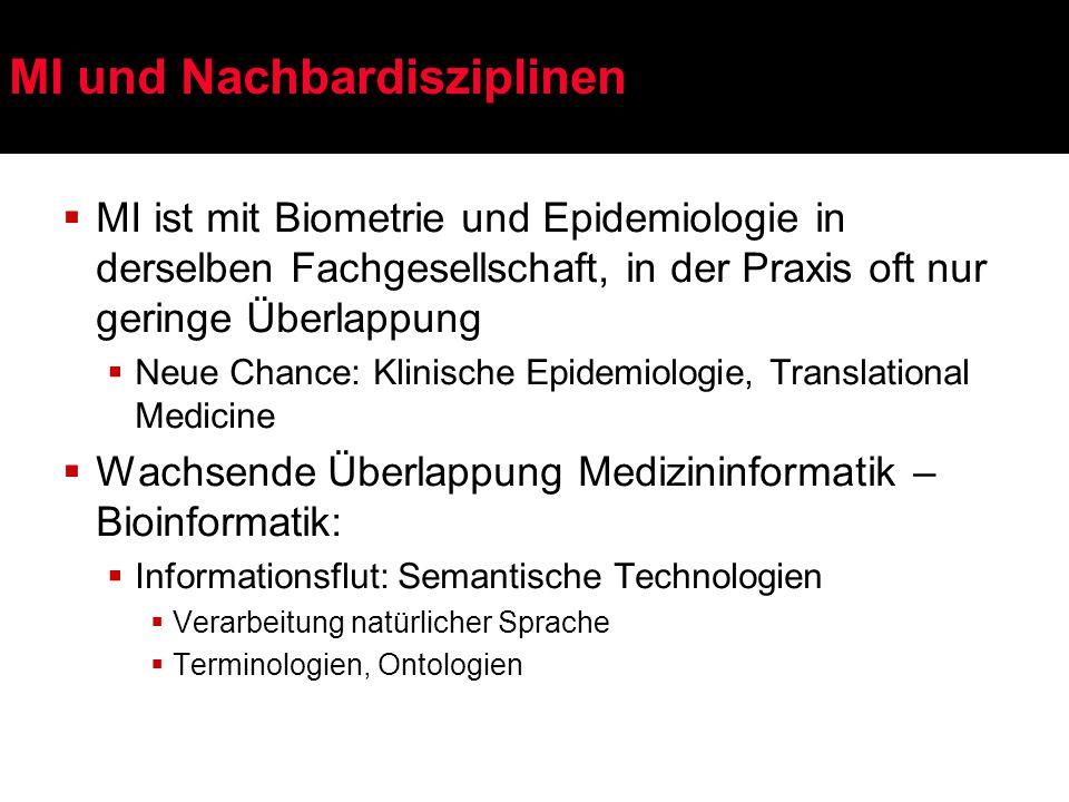 Gemeinsame Forschungsfragen: Medizinische Informatik / Bioinformatik  Wissensrepräsentation  Multilinguale Terminologiesysteme (z.B.