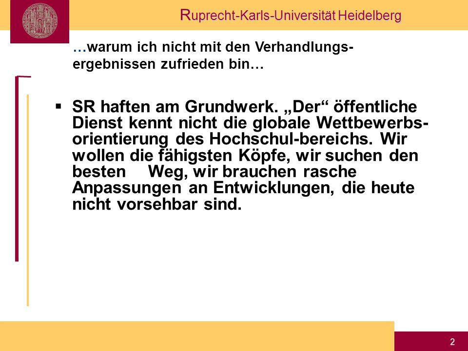 R uprecht-Karls-Universität Heidelberg 2  SR haften am Grundwerk.