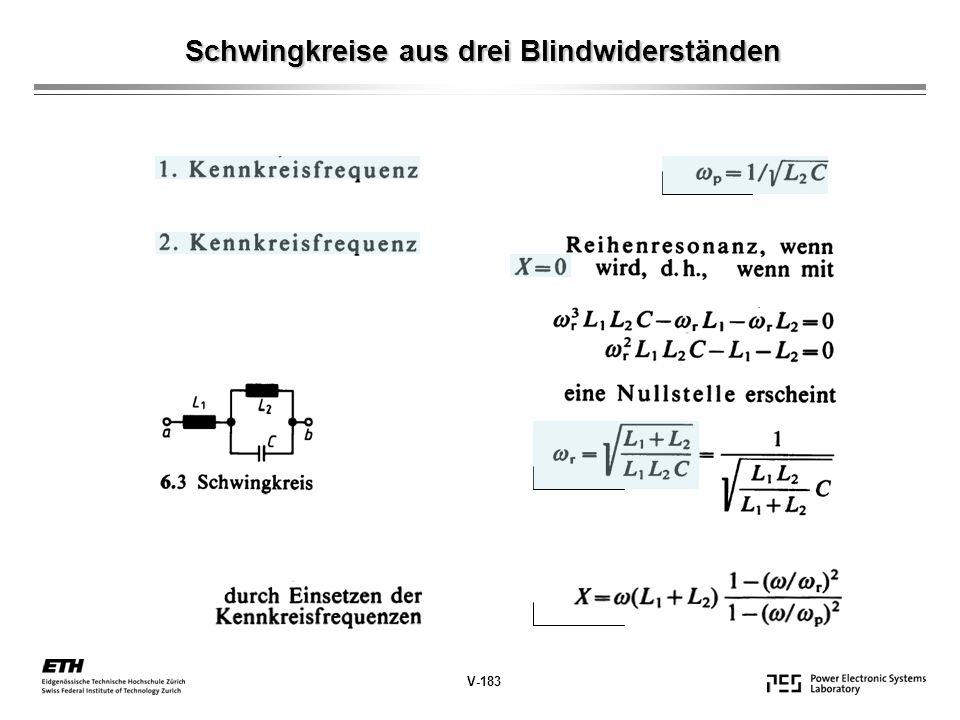 Schwingkreise aus drei Blindwiderständen V-184