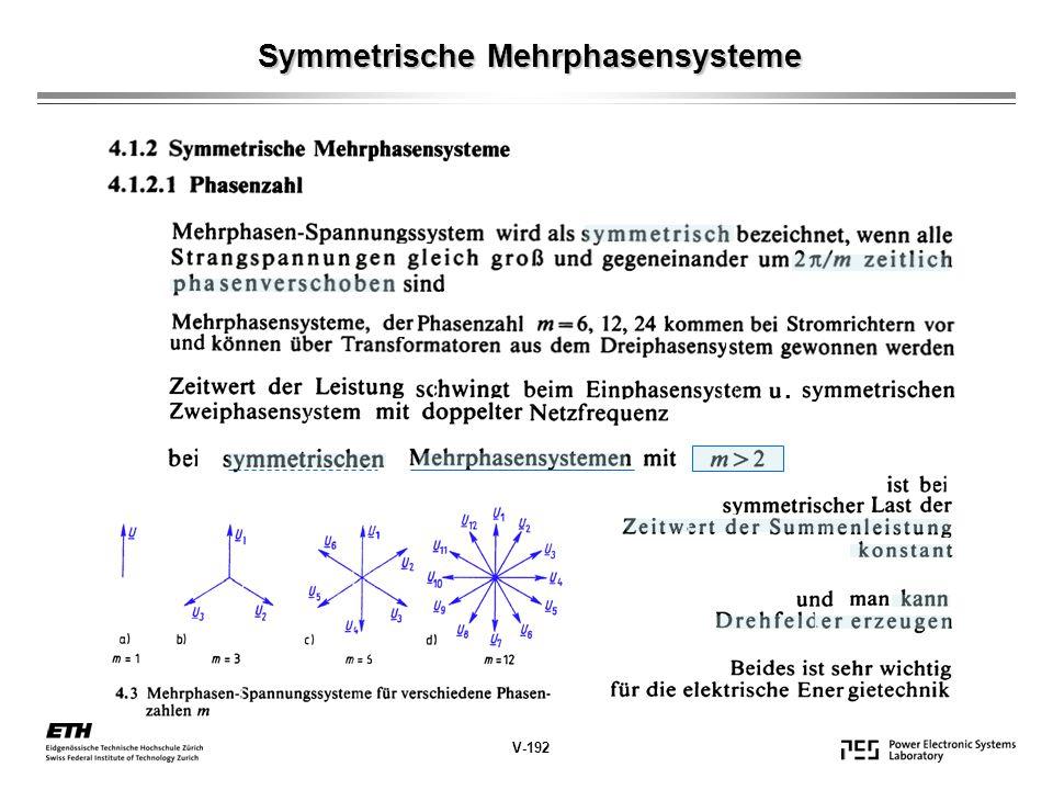 Symmetrische Mehrphasensysteme V-192.
