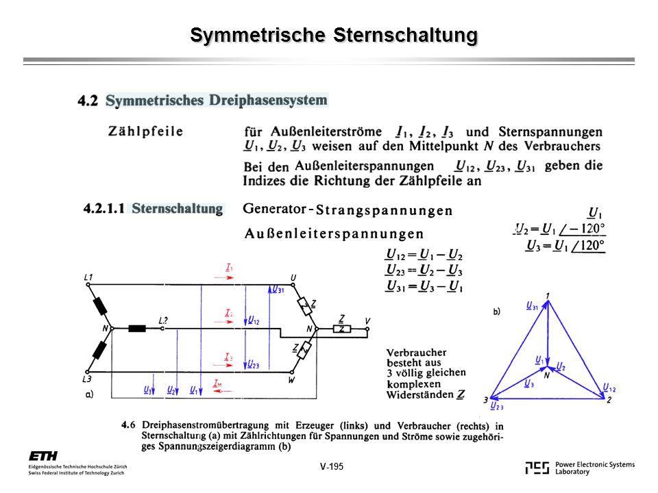 Symmetrische Sternschaltung Symmetrische Sternschaltung V-195 -