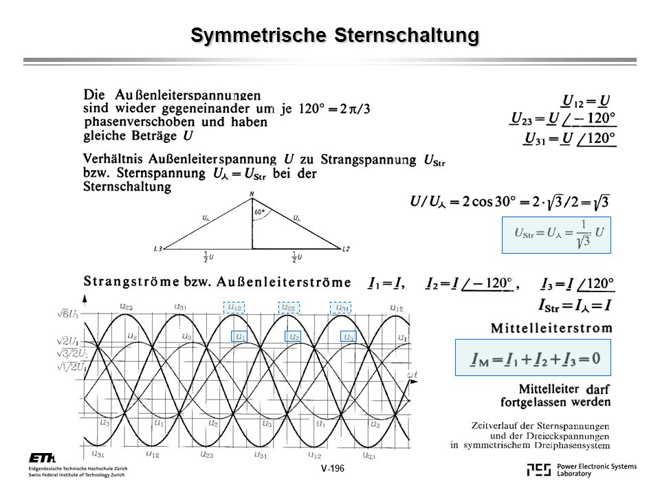 Symmetrische Sternschaltung Symmetrische Sternschaltung V-196