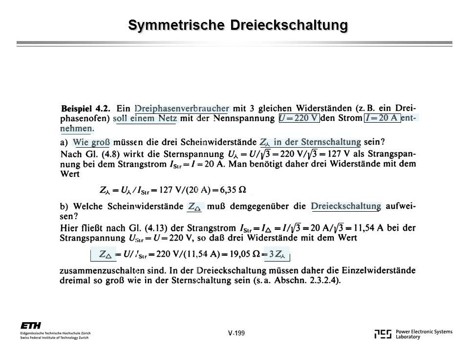 Symmetrische Dreieckschaltung Symmetrische Dreieckschaltung V-199