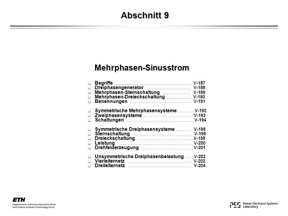 Mehrphasen-Sinusstrom V-187 - -