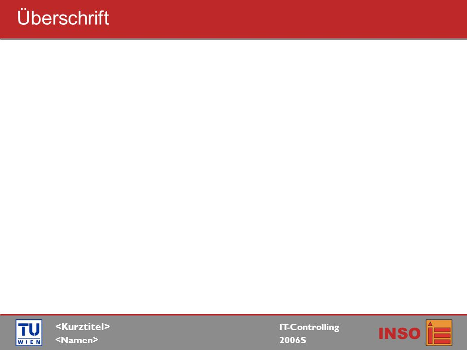 IT-Controlling 2006S INSO Überschrift