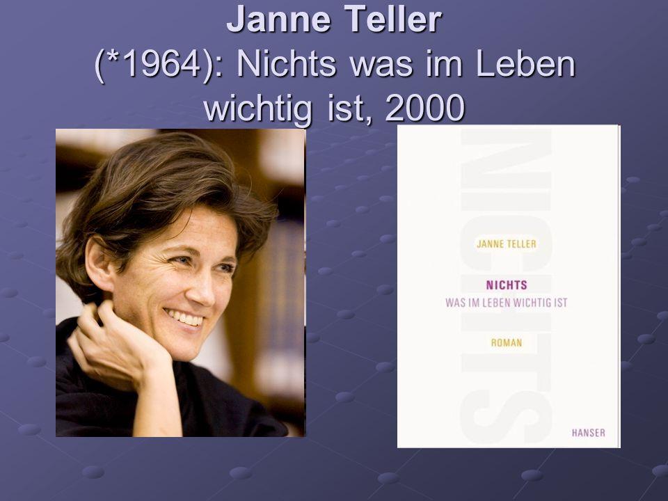 Janne Teller (*1964): Nichts was im Leben wichtig ist, 2000