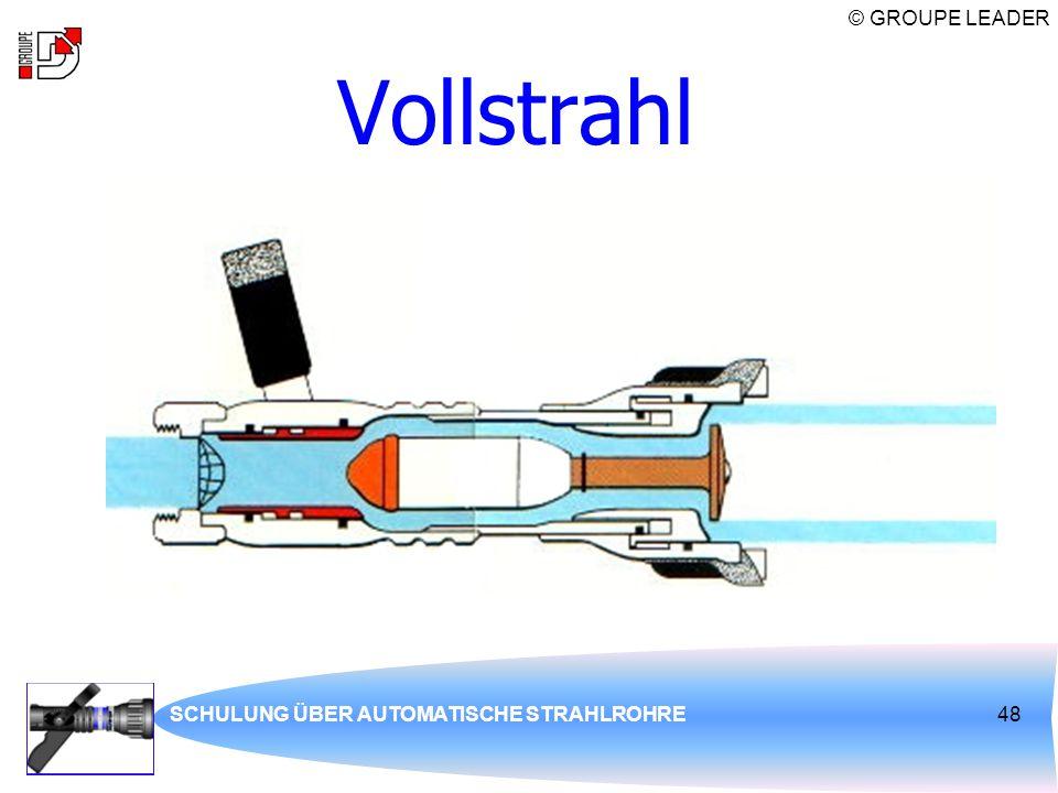 © GROUPE LEADER SCHULUNG ÜBER AUTOMATISCHE STRAHLROHRE48 Vollstrahl