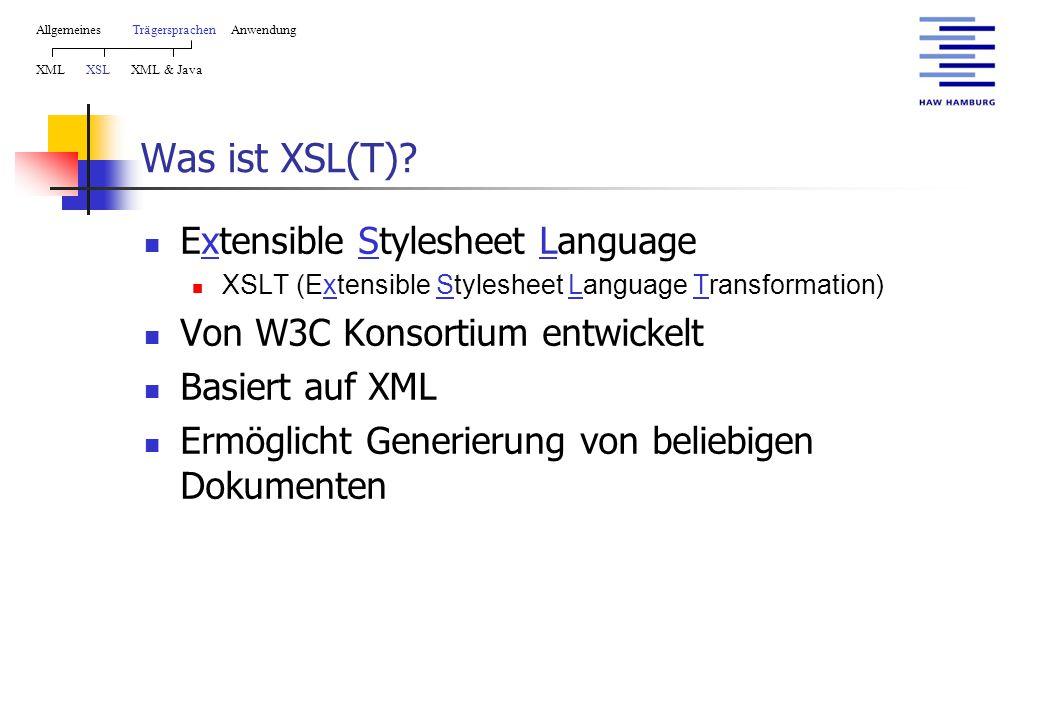 Was ist XSL(T).
