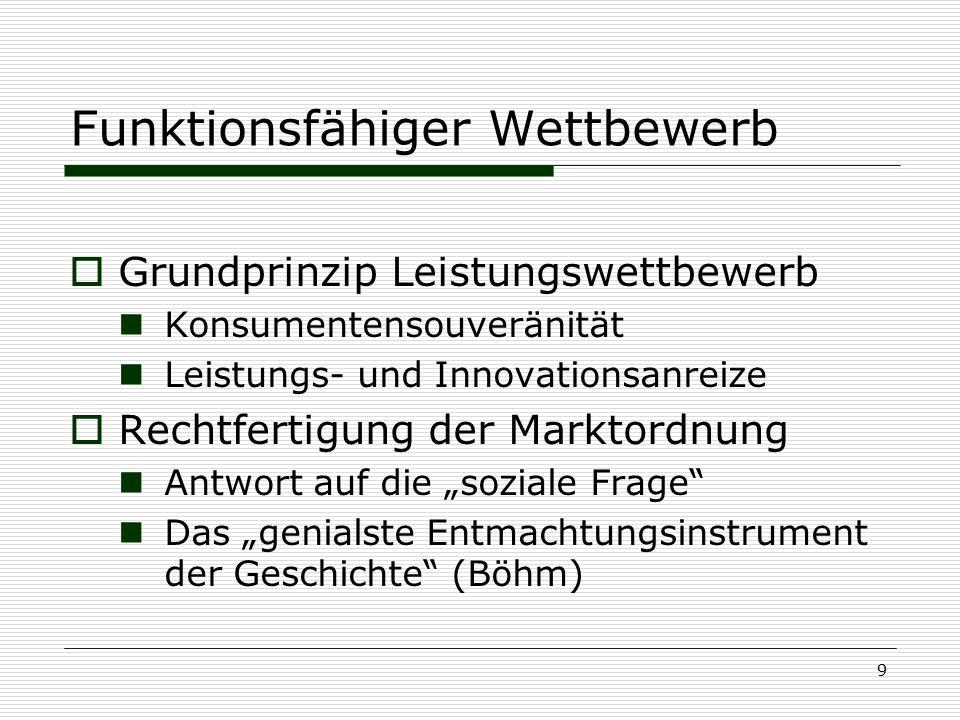 """Konzeption und Realität Ordnungspolitik und Deutsche Vereinigung  Triumph oder Abgesang der """"Sozialen Marktwirtschaft ."""