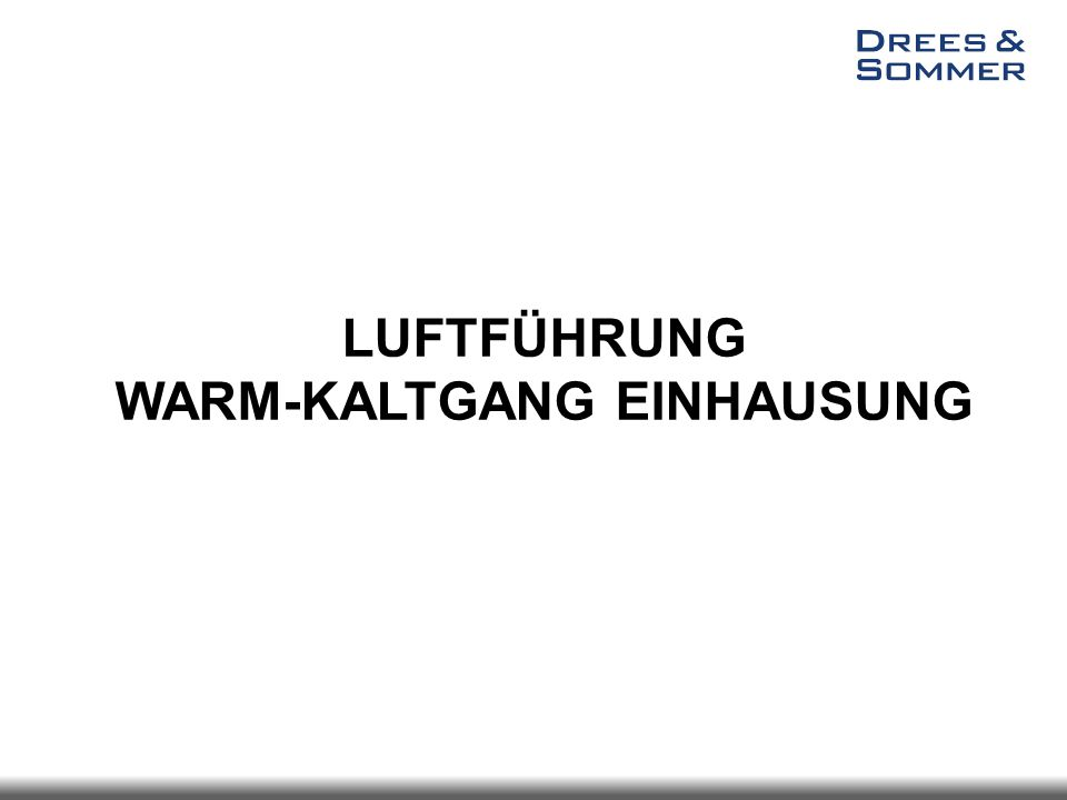 LUFTFÜHRUNG WARM-KALTGANG EINHAUSUNG