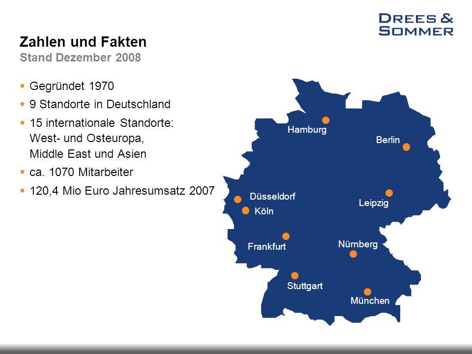 Zahlen und Fakten Stand Dezember 2008  Gegründet 1970  9 Standorte in Deutschland  15 internationale Standorte: West- und Osteuropa, Middle East un