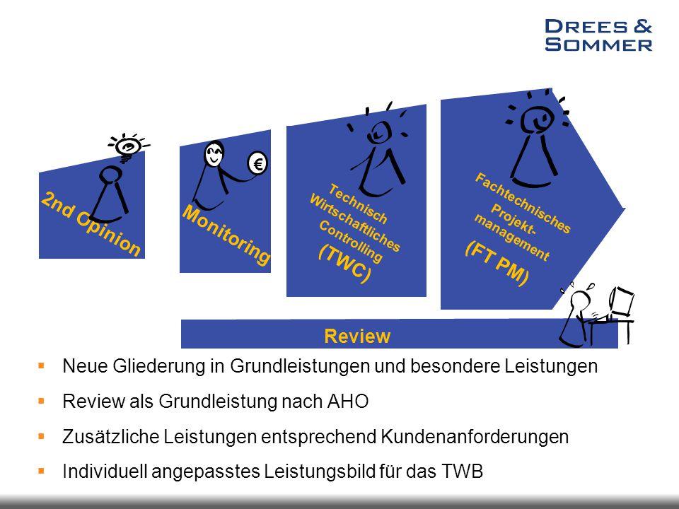 Technisch Wirtschaftliche Bauberatung Leistungsvergleich über Planungsphasen  Neue Gliederung in Grundleistungen und besondere Leistungen  Review al