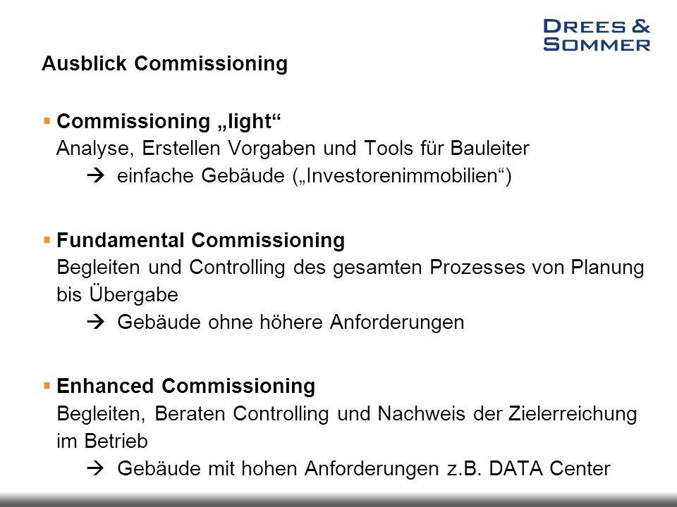 """Ausblick Commissioning  Commissioning """"light"""" Analyse, Erstellen Vorgaben und Tools für Bauleiter  einfache Gebäude (""""Investorenimmobilien"""")  Funda"""